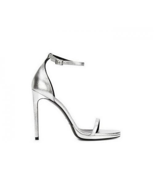 Женские босоножки Yves Saint Laurent (Ив Сен Лоран) Silver