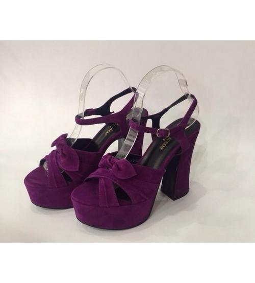 Женские босоножки Yves Saint Laurent (Ив Сен-Лоран) Candy кожаные Purple
