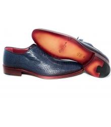 Туфли мужские Santoni (Сантони) Blue  (Ящерица)