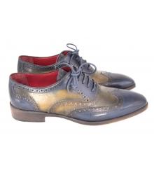 Мужские туфли Santoni (Сантони) Brown/Blue