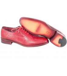 Туфли Santoni (Сантони) Red  (Ящерица)