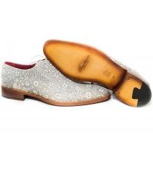 Туфли мужские Santoni (Сантони) White (Ящерица)