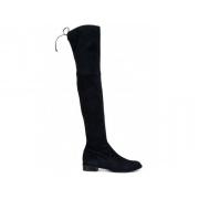 Ботфорты женские Stuart Weitzman (Стюарт Вайтцман) замшевые на низком каблуке 2,5 см Black