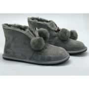 Ботинки зимние женские Ugg Australia (Угги Австралия) Mini замшевые Grey