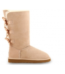 Ugg женские Australia (Угг Австралия) Bailey Satin Bow Beige