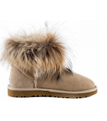 Ugg женские Australia (Угг Австралия) Classic Mini Fox Fur Beige