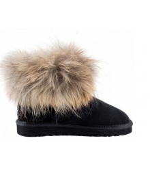 Ugg женские Australia (Угг Австралия) Classic Mini Fox Fur Black