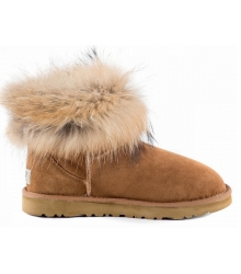 Ugg женские Australia (Угг Австралия) Classic Mini Fox Fur Brown