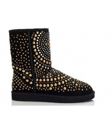 Ugg женские Australia (Угги Австралия) Jimmy Choo Black Metal Snow Boots