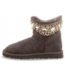 Ugg женские Australia (Угг Австралия) Jimmy Choo Crystals Grey