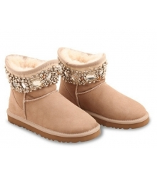 Ugg женские Australia (Угг Австралия) Jimmy Choo Crystals Light Beige