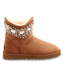 Ugg женские Australia (Угг Австралия) Jimmy Choo Crystals Light Brown