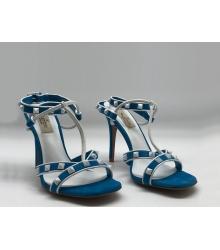 Женские босоножки Valentino Garavani (Валентино Гаравани) Free Rockstud кожаные Blue