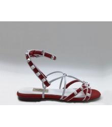 Женские сандалии Valentino Garavani (Валентино Гаравани) Free Rockstud кожаные Red