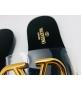 Женские шлепанцы Valentino Garavani (Валентино Гаравани) летние кожаные с логотипом Bllack