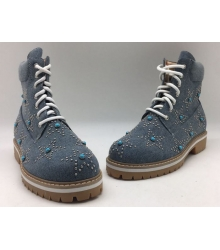 Ботинки женские Valentino Garavani (Валентино Гаравани) осенние Blue