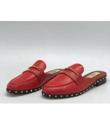 Мюли женские Valentino Garavani (Валентино Гаравани) Rockstud кожаные Red
