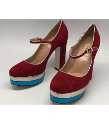 Женские туфли Valentino Garavani Rockstud (Валентино Гаравани) на платформе Red