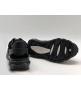Женские кроссовки Valentino (Валентино) Garavani Rockstud на шнурках Black
