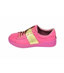 Кроссовки женские Valentino Garavani Rockstud (Валентино Гаравани) Pink\Gold