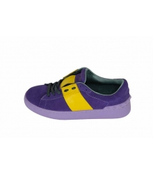 Кроссовки женские Valentino Garavani Rockstud (Валентино Гаравани) Purple/Yellow