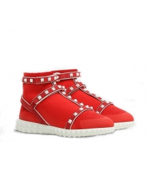Женские кроссовки Valentino Garavani (Валентино Гаравани) Rockstud с ремешками Red