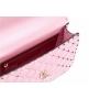 Женская роскошная сумка Valentino Garavani (Валентино Гаравани) Rockstud Spike кожаная через плечо Pink