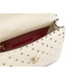 Женская роскошная сумка Valentino Garavani (Валентино Гаравани) Rockstud Spike кожаная через плечо White
