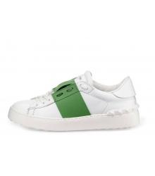 Кроссовки Valentino (Валентино) Garavani Rockstud White\Green