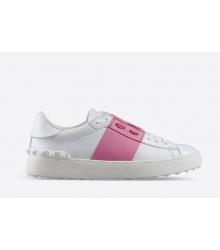 Кроссовки Valentino (Валентино) Garavani Rockstud White\Pink