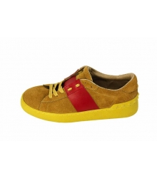 Кроссовки женские Valentino Garavani Rockstud (Валентино Гаравани) Yellow\Red