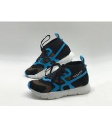 Женские кроссовки Valentino (Валентино) Garavani Sound высокие на шнурках Black/Blue