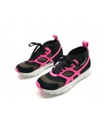 Женские кроссовки Valentino (Валентино) Garavani Sound высокие на шнурках Black/Pink