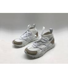 Женские кроссовки Valentino (Валентино) Garavani Sound высокие на шнурках White