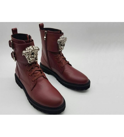 Женские ботинки Versace (Версаче) Bordo - 85 000 руб.   Купить ... e5d301a4f20