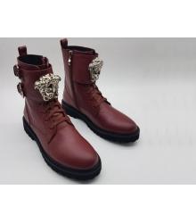 Женские ботинки Versace (Версаче) Bordo