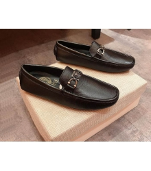 Мокасины мужские Versace кожаные Black
