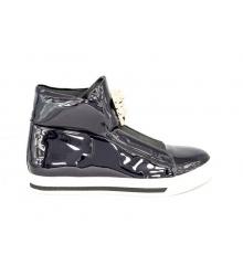 Осенние ботинки Versace (Версаче) New Black Gold