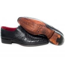 Туфли мужские Zilli (Зилли) Black (Крокодил)