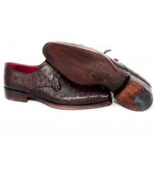 Туфли мужские Zilli (Зилли) Brown (Страус)