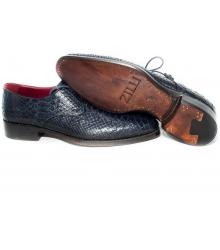 Туфли мужские Zilli (Зилли) Dark Blue (Крокодил)