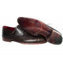 Мужские туфли Zilli (Зилли) Dark Brown (Крокодил)