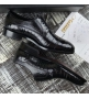 Туфли мужские Zilli (Зилли) кожа крокодила Black