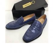 Туфли мужские Zilli (Зилли) кожа крокодила Blue