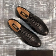 Сникерсы мужские Zilli (Зилли) кожаные на шнуровке Black