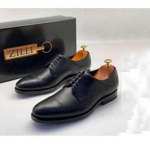 Туфли мужские Zilli (Зилли) натуральная кожа Black