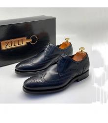 Туфли мужские Zilli (Зилли) натуральная кожа Blue