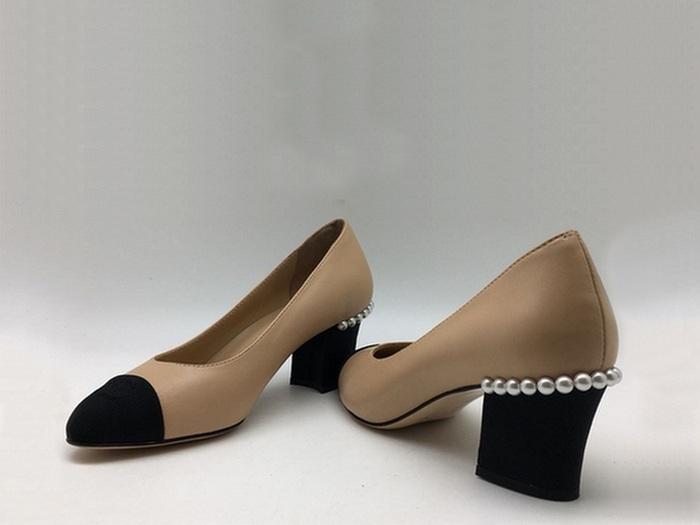 6ed5194f998e Женские туфли Chanel (Шанель) кожаные на низком каблуке Beige - 14 ...