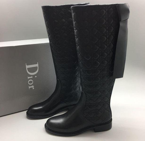 Скидки Женские сапоги Christian Dior (Кристиан Диор) High Black Быстрый  Просмотр 369f0c5bdde