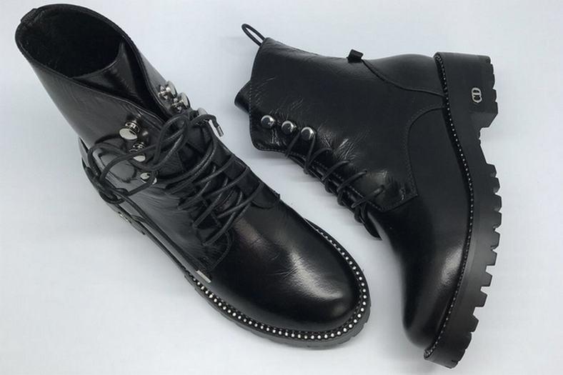 Скидки Ботинки женские Christian Dior (Кристиан Диор) осенние High Black  Быстрый Просмотр c2e31f730c3
